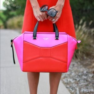 Kate Spade Pink Red Orange Handbag